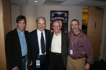 From left, Al Albert, Carl Scheer, David Savitz and your correspondent in 2014.